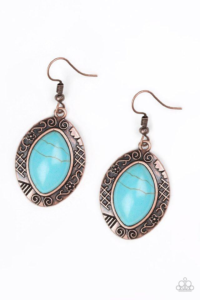 Aztec Horizons - Copper - Paparazzi Earring Image