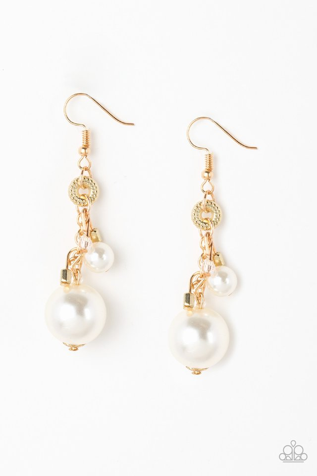 Timelessly Traditional - Gold - Paparazzi Earring Image