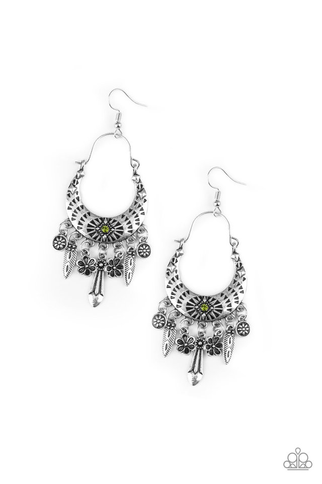 Nature Escape - Green - Paparazzi Earring Image