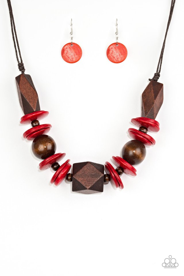 Pacific Paradise - Red - Paparazzi Necklace Image