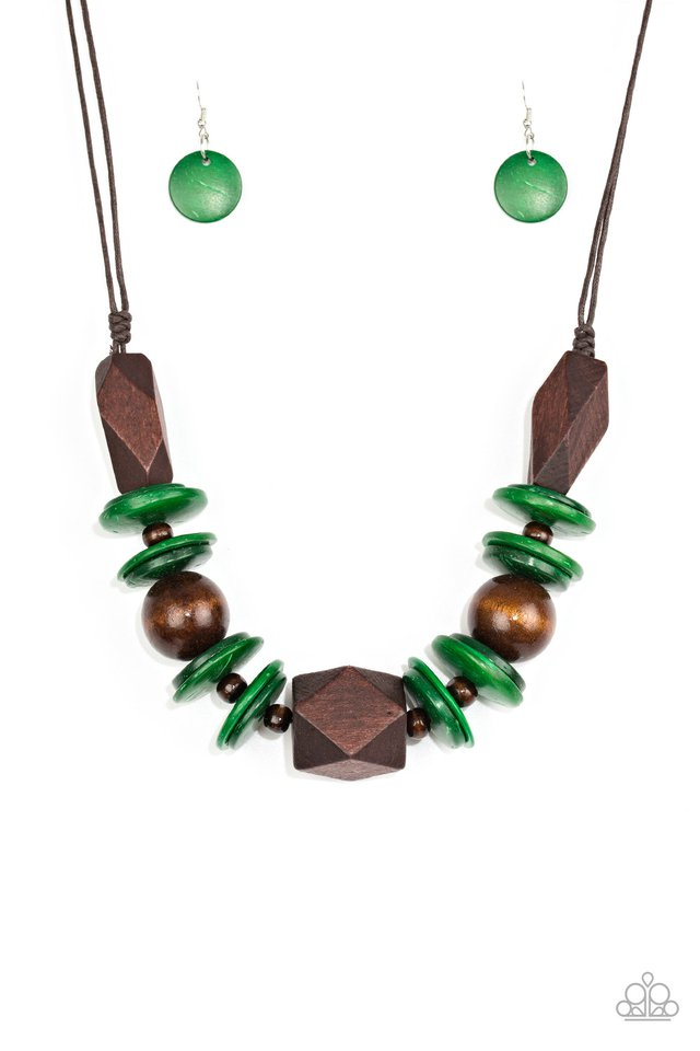 Pacific Paradise - Green - Paparazzi Necklace Image