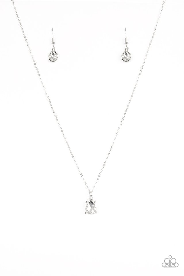Classy Classicist - White - Paparazzi Necklace Image