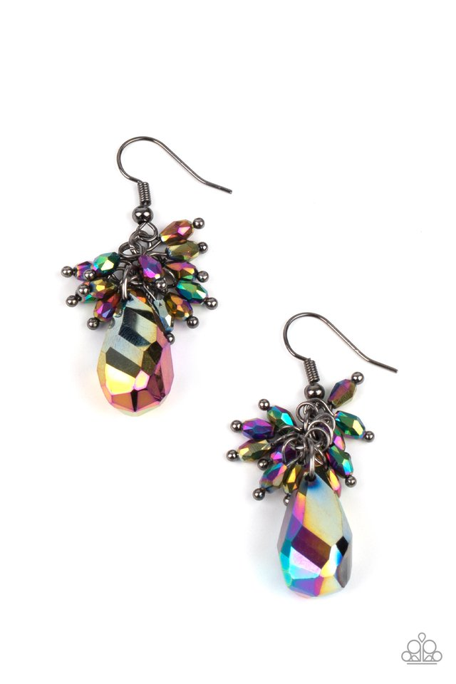 Well Versed in Sparkle - Multi - Paparazzi Earring Image