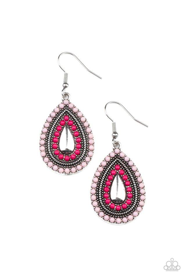 Beaded Bonanza - Pink - Paparazzi Earring Image