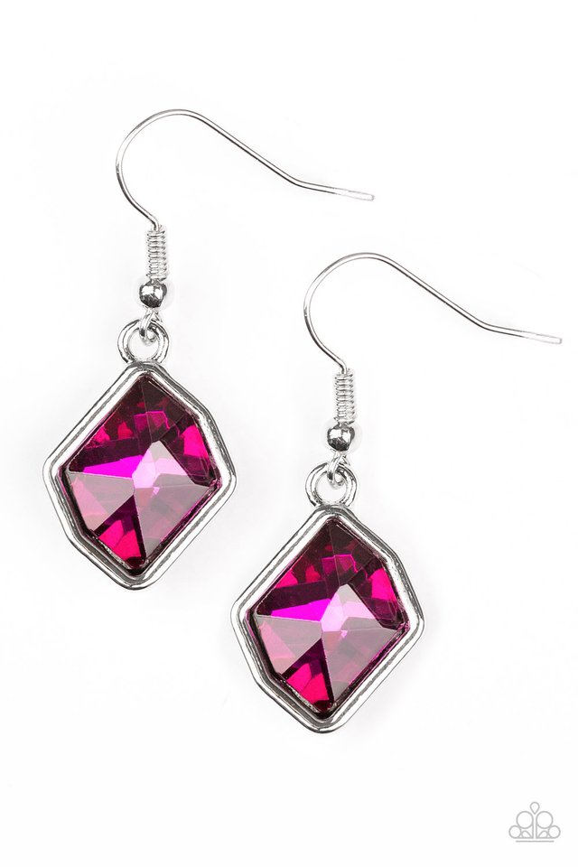 Glow It Up - Pink - Paparazzi Earring Image