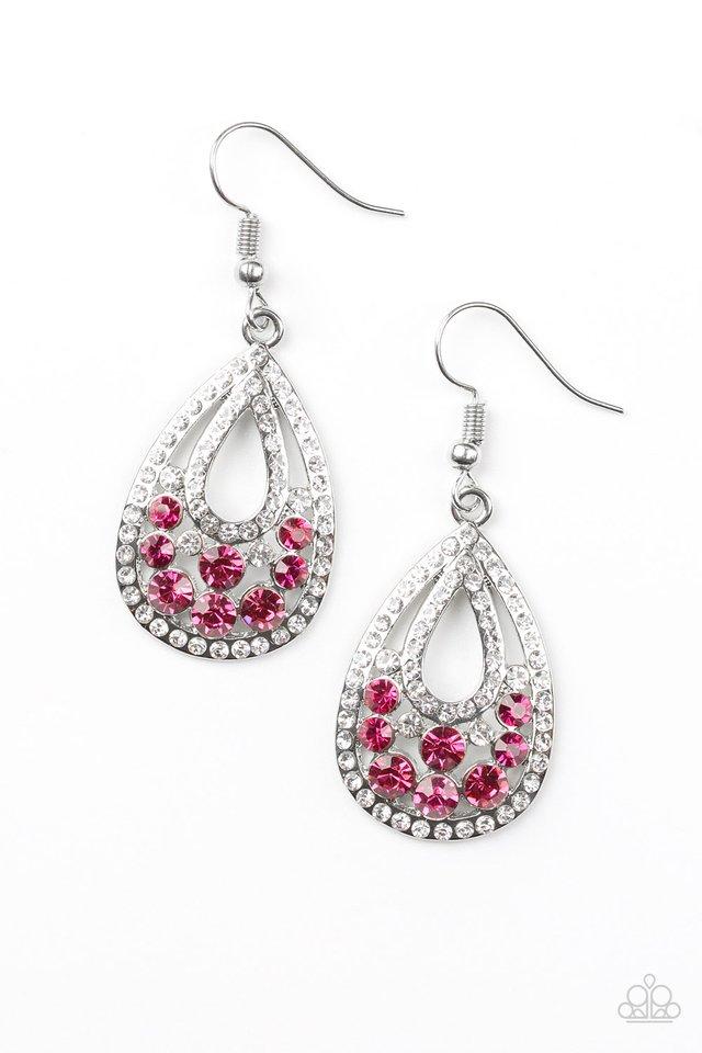 Sparkling Stardom - Pink - Paparazzi Earring Image