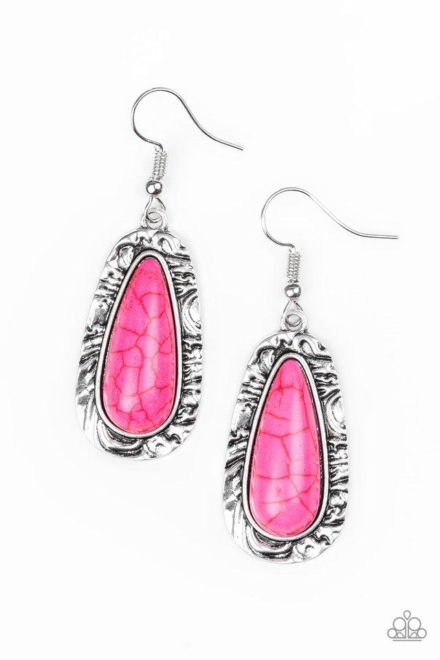 Cruzin Colorado - Pink - Paparazzi Earring Image