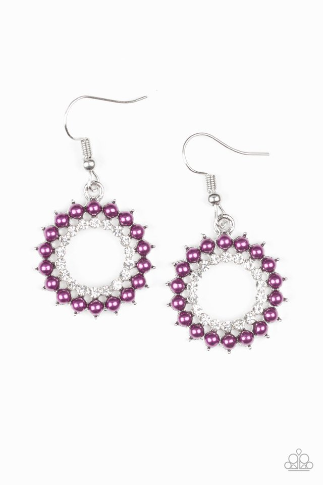 Wreathed In Radiance - Purple - Paparazzi Earring Image