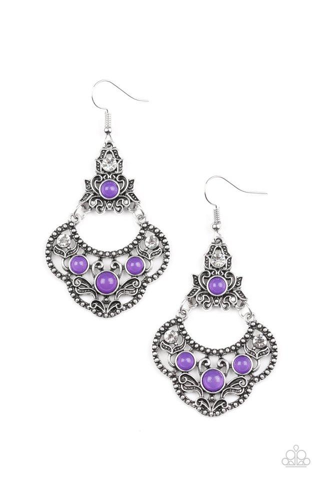 Garden State Glow - Purple - Paparazzi Earring Image