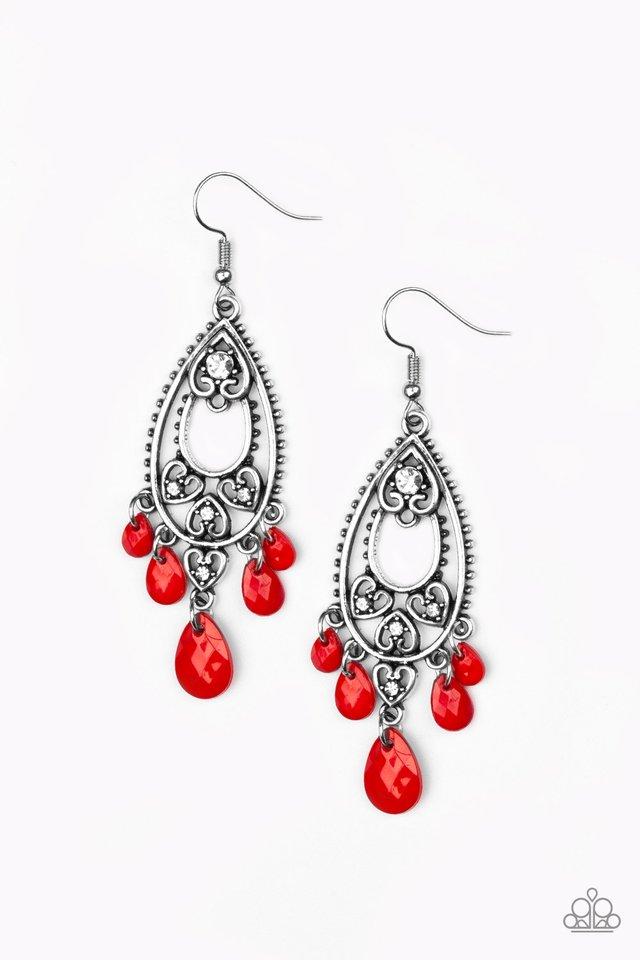 Fashion Flirt - Red - Paparazzi Earring Image