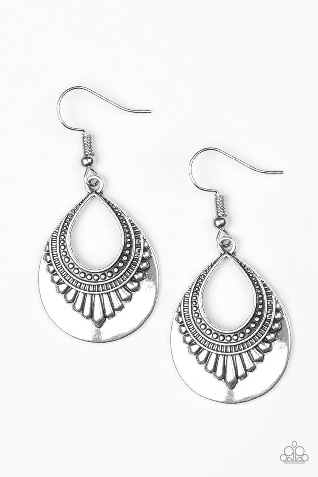 Totally Terrestrial - Silver - Paparazzi Earring Image