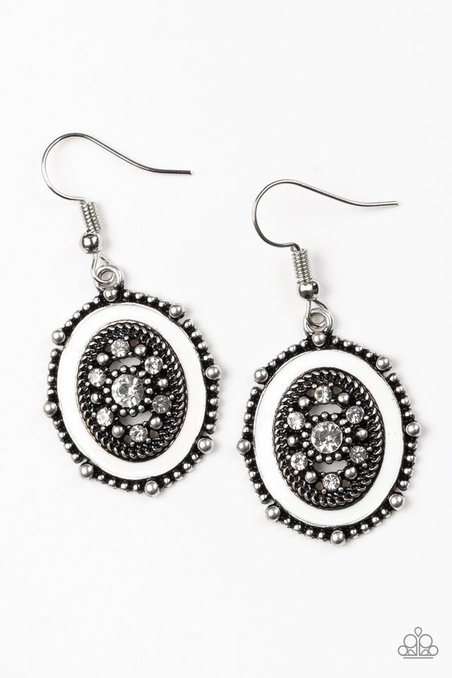 Picture of WEALTH - White - Paparazzi Earring Image