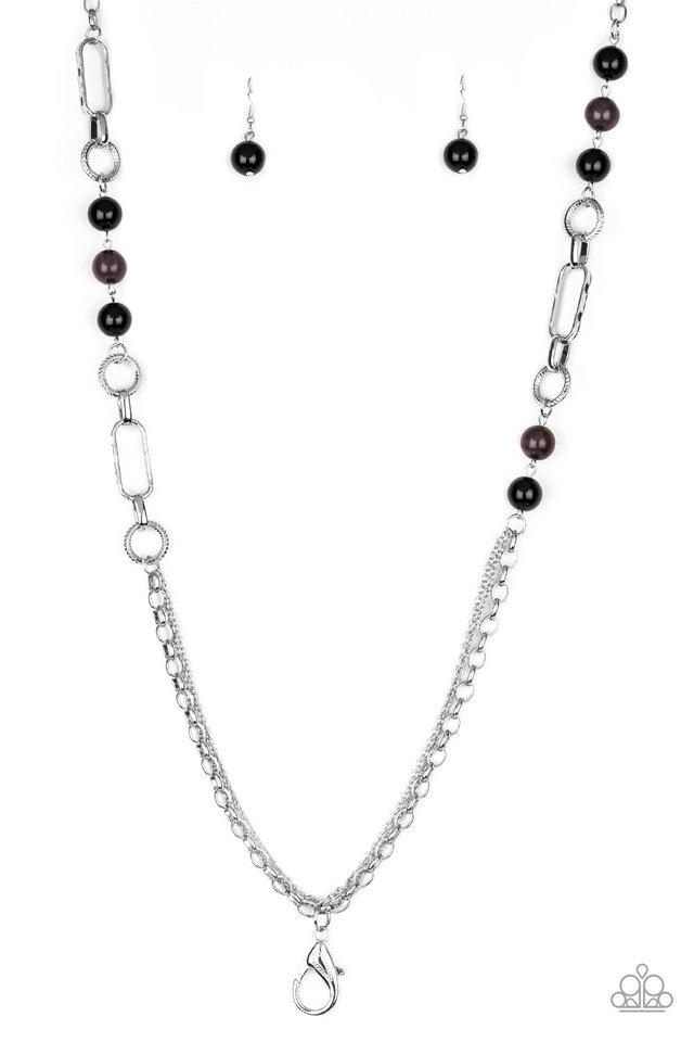 CACHE Me Out - Black - Paparazzi Necklace Image