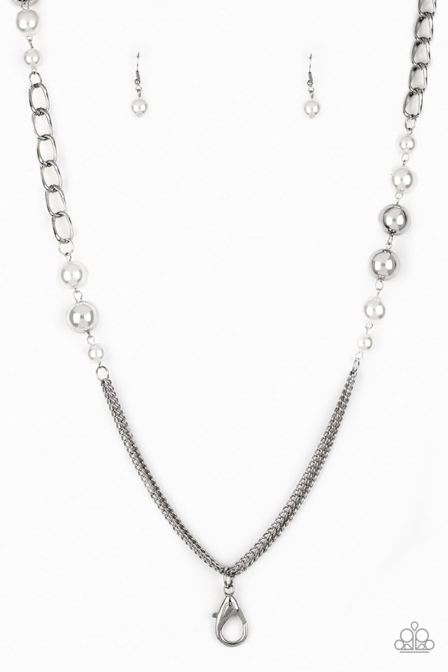 Uptown Talker - White - Paparazzi Necklace Image