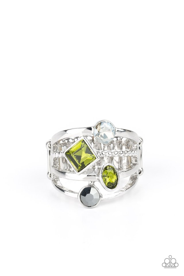 Urban Meditation - Green - Paparazzi Ring Image