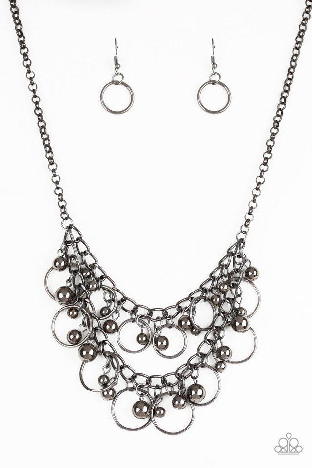 Warning Bells - Black - Paparazzi Necklace Image