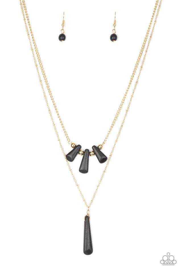Basic Groundwork - Black - Paparazzi Necklace Image