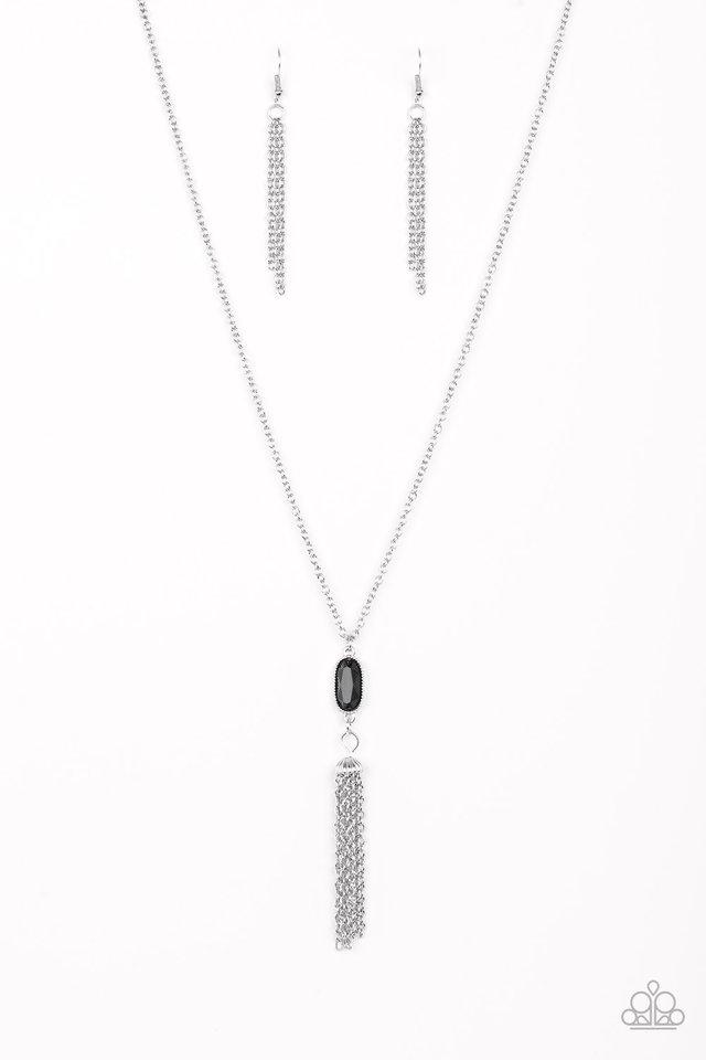 Tassel Tease - Black - Paparazzi Necklace Image