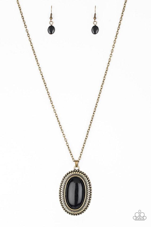 Practical Prairie - Brass - Paparazzi Necklace Image