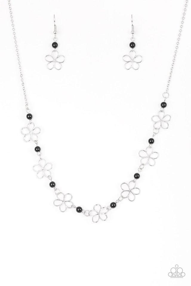 Always Abloom - Black - Paparazzi Necklace Image