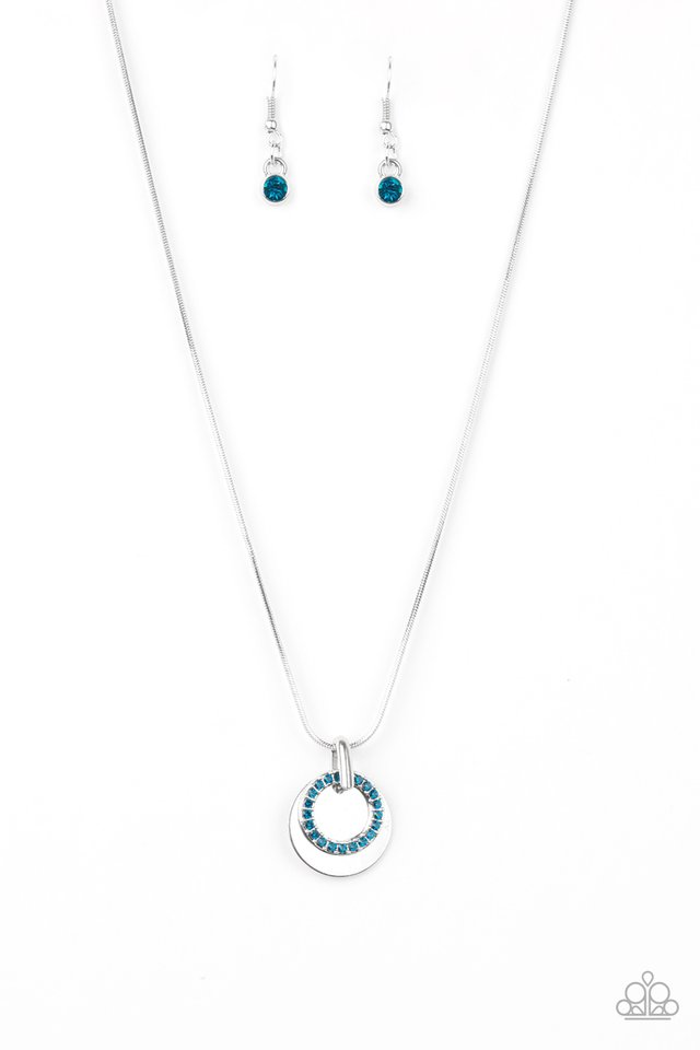 Front and CENTERED - Blue - Paparazzi Necklace Image