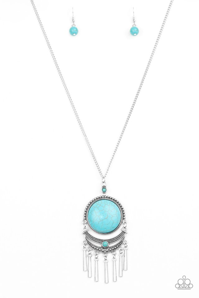 Rural Rustler - Blue - Paparazzi Necklace Image