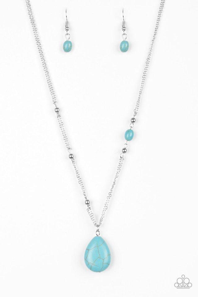 Peaceful Prairies - Blue - Paparazzi Necklace Image