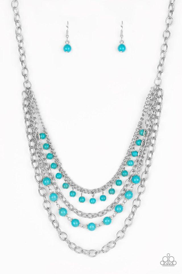 Ground Forces - Blue - Paparazzi Necklace Image