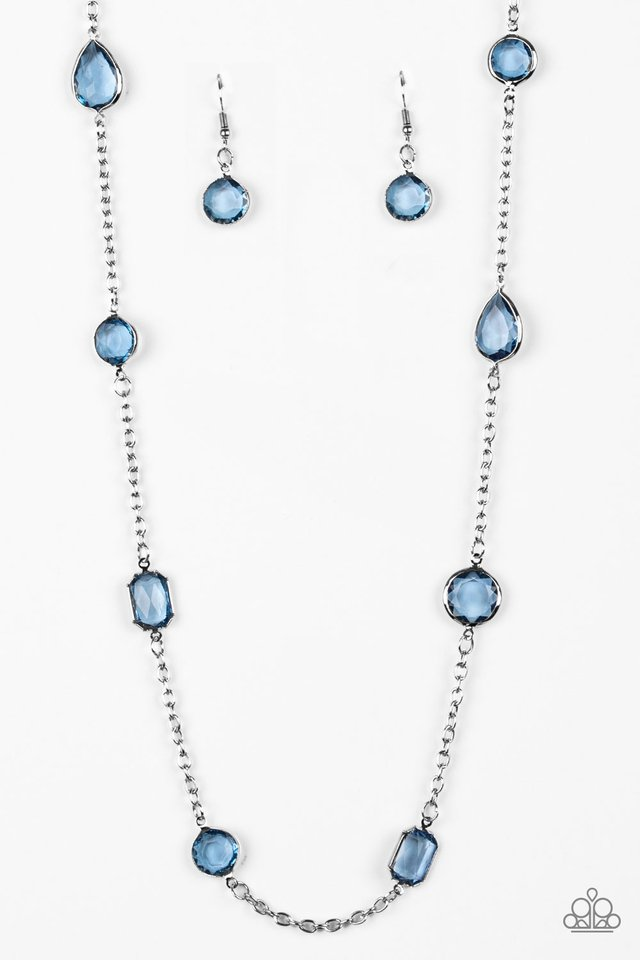 Glassy Glamorous - Blue - Paparazzi Necklace Image