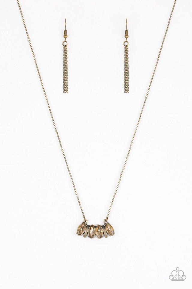 Deco Decadence - Brass - Paparazzi Necklace Image