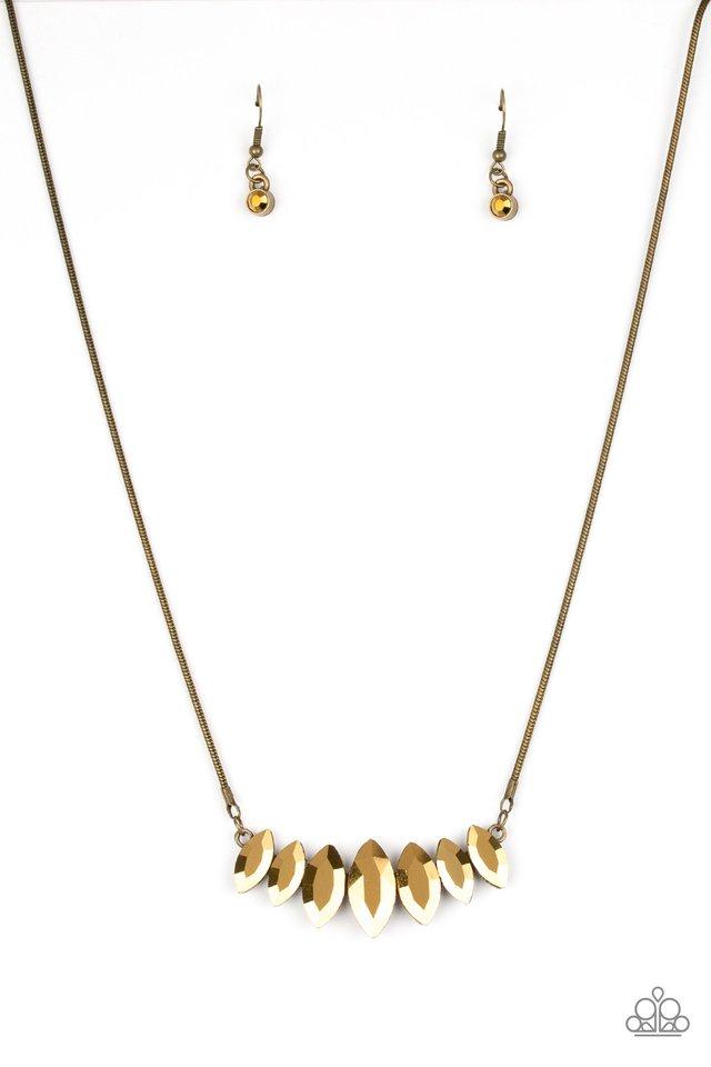 Leading Lady - Brass - Paparazzi Necklace Image