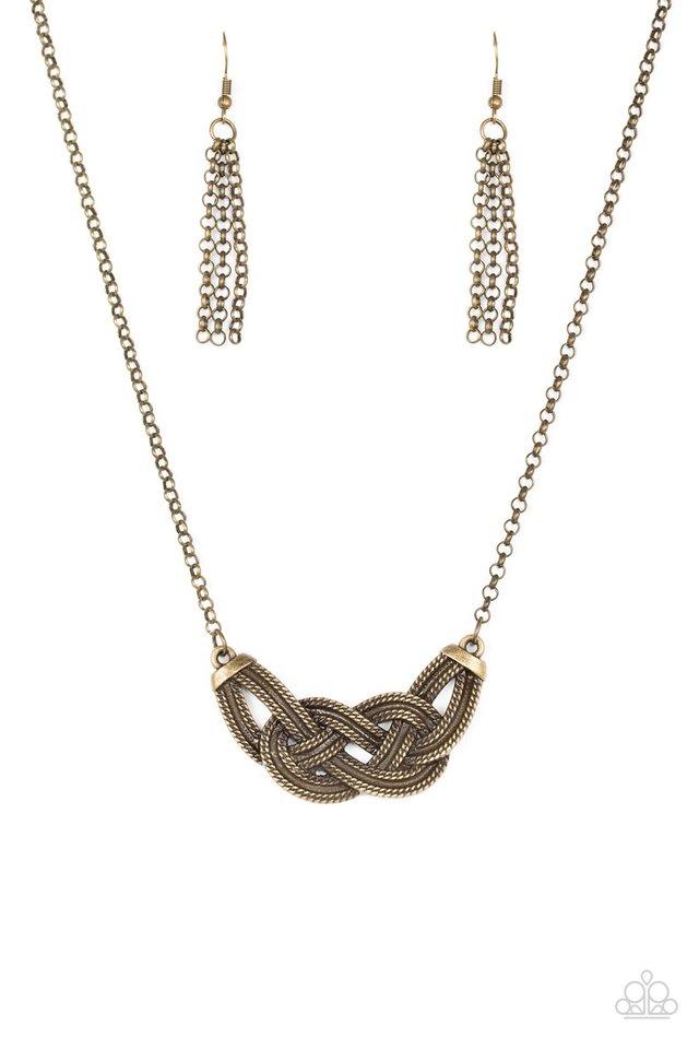 Nautically Naples - Brass - Paparazzi Necklace Image