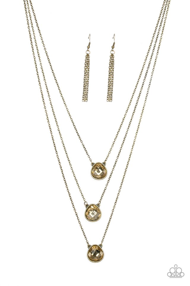 Once In A MILLIONAIRE - Brass - Paparazzi Necklace Image