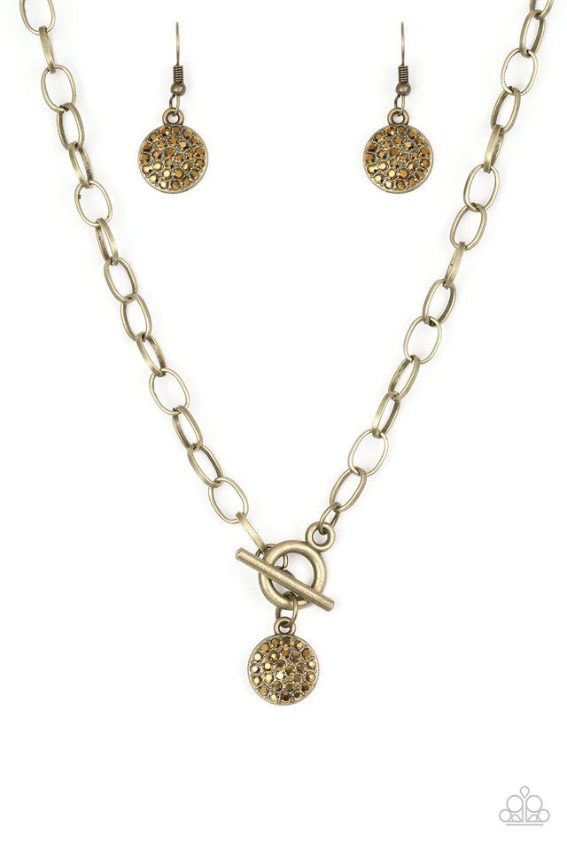 Sorority Sisters - Brass - Paparazzi Necklace Image