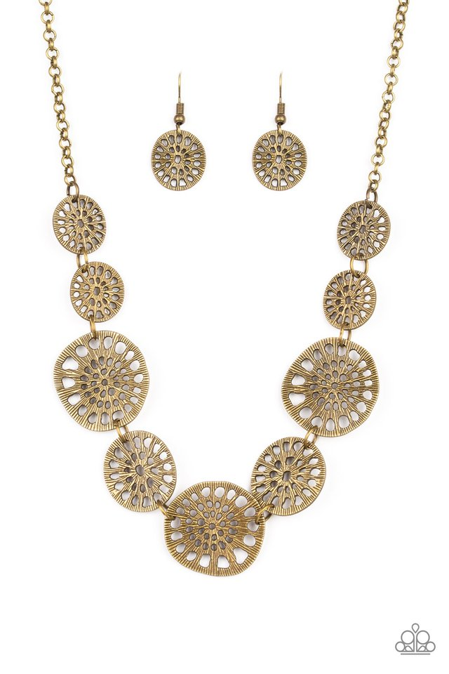 Your Own Free WHEEL - Brass - Paparazzi Necklace Image