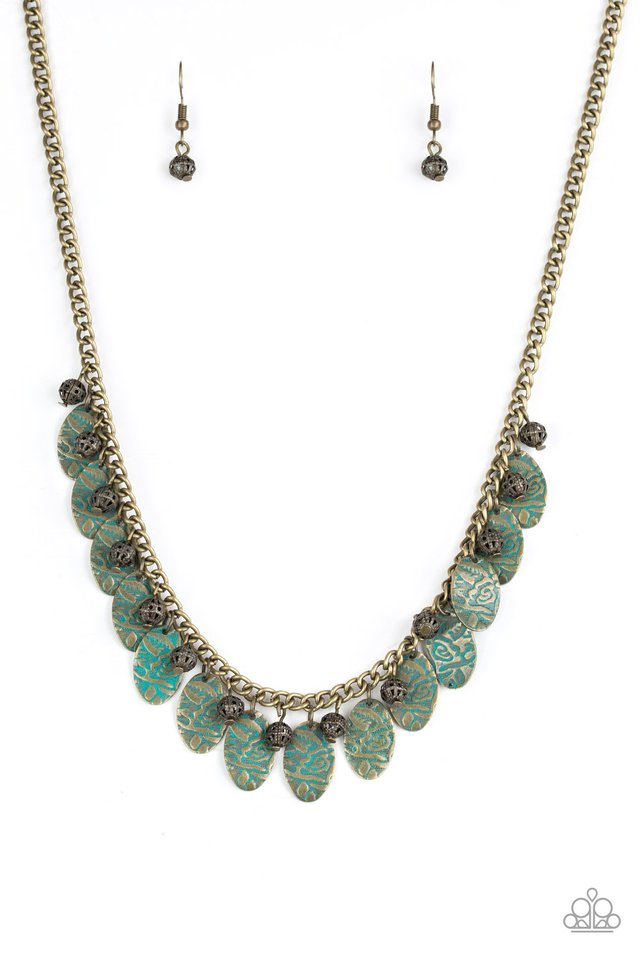 Vintage Gardens - Brass - Paparazzi Necklace Image