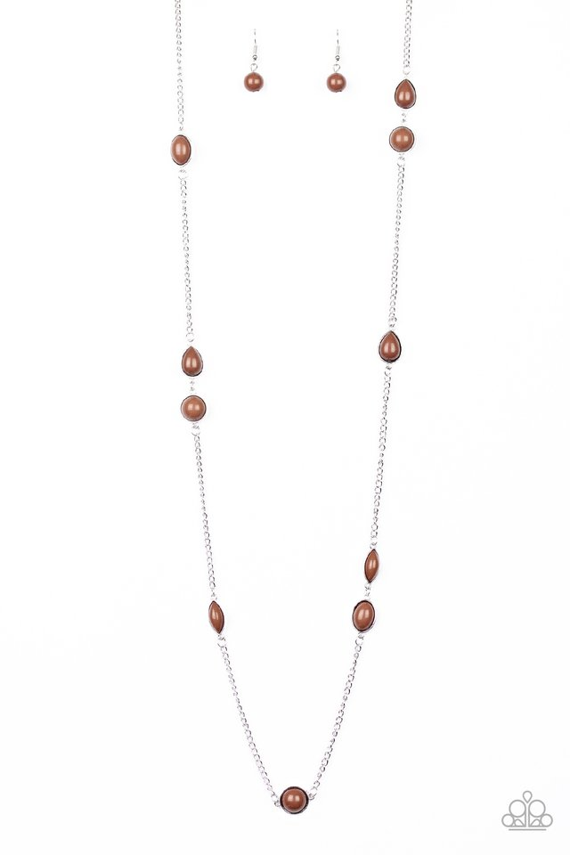 Pacific Piers - Brown - Paparazzi Necklace Image