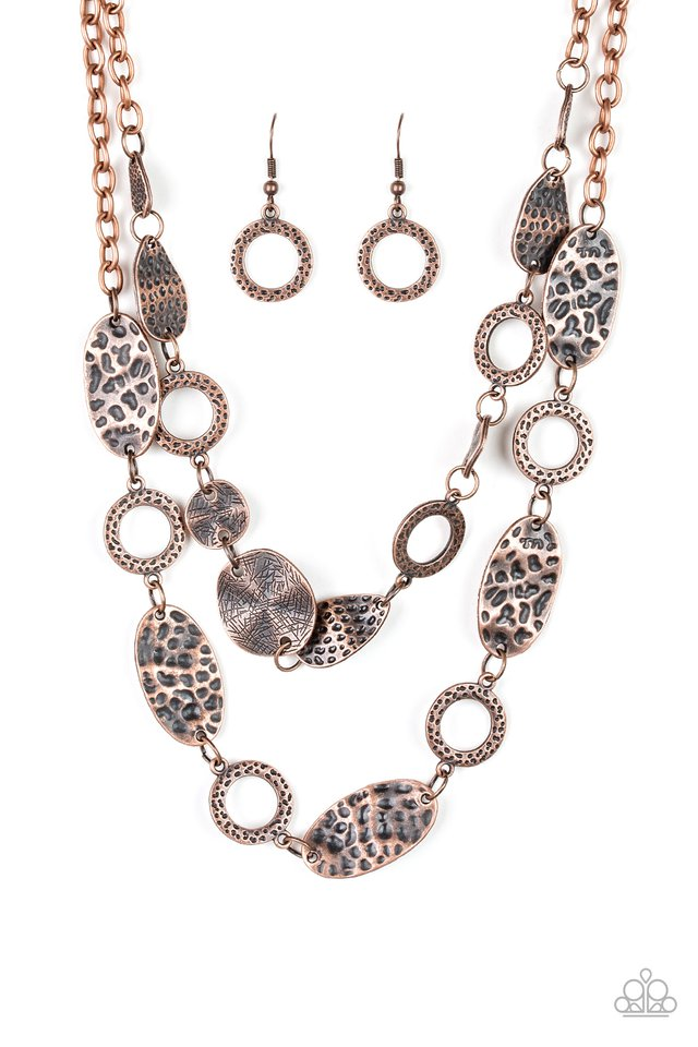 Trippin On Texture - Copper - Paparazzi Necklace Image