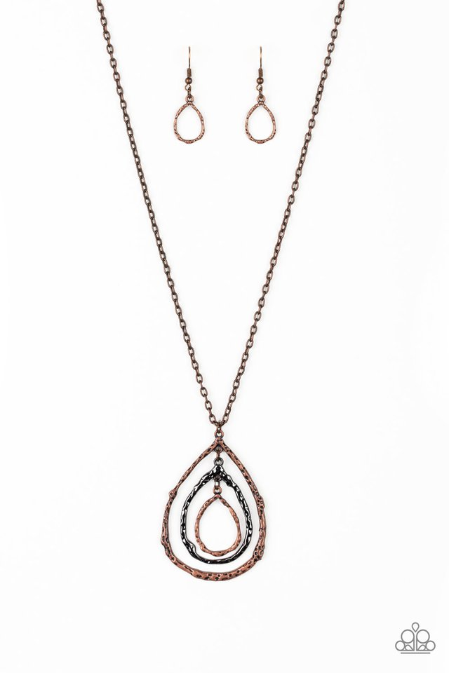 Going For Grit - Copper - Paparazzi Necklace Image