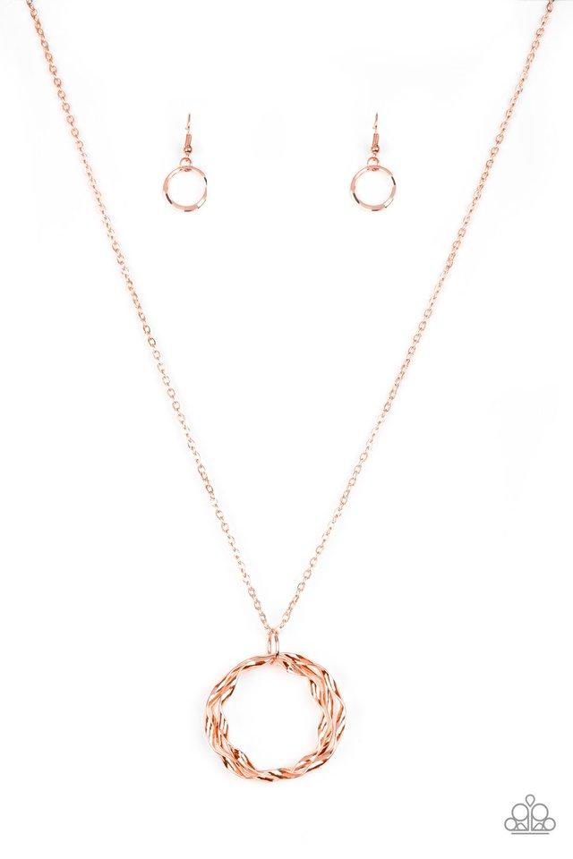 Millennial Minimalist - Copper - Paparazzi Necklace Image
