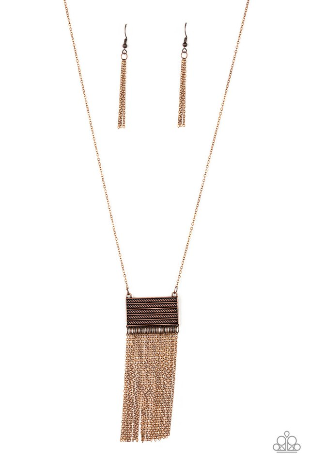 Totally Tassel - Copper - Paparazzi Necklace Image
