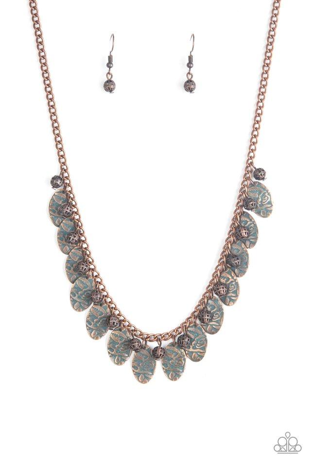 Vintage Gardens - Copper - Paparazzi Necklace Image