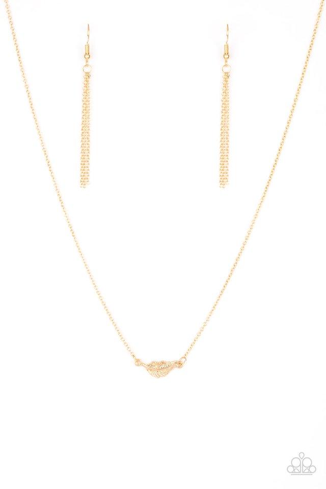 In-Flight Fashion - Gold - Paparazzi Necklace Image