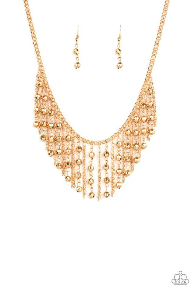 Rebel Remix - Gold - Paparazzi Necklace Image