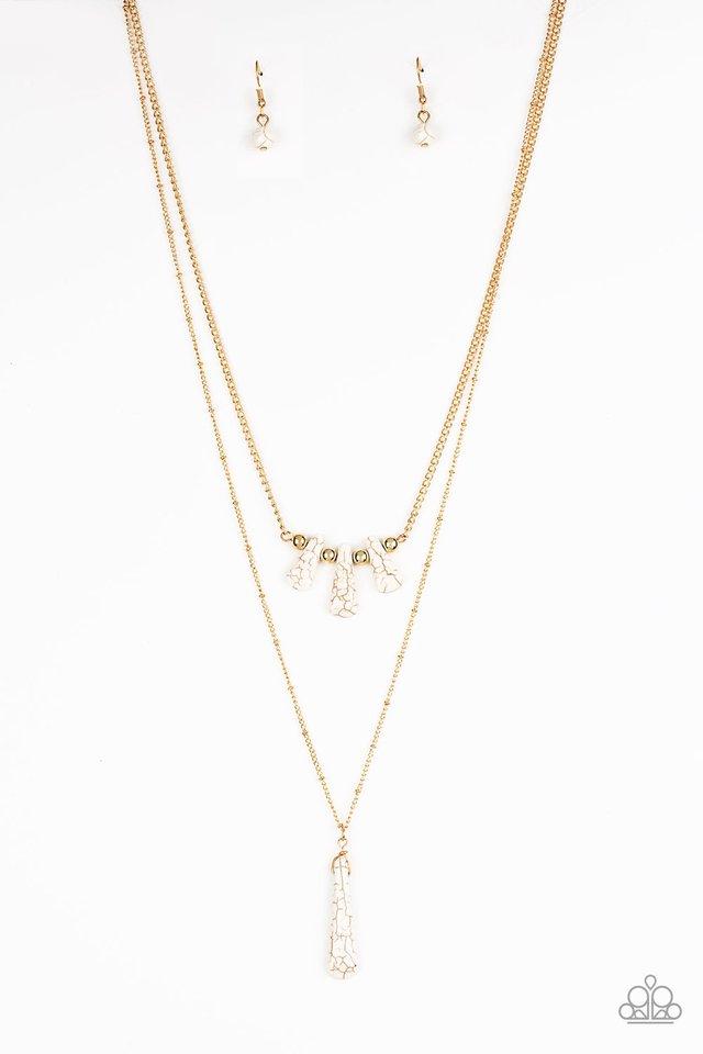 Basic Groundwork - Gold - Paparazzi Necklace Image