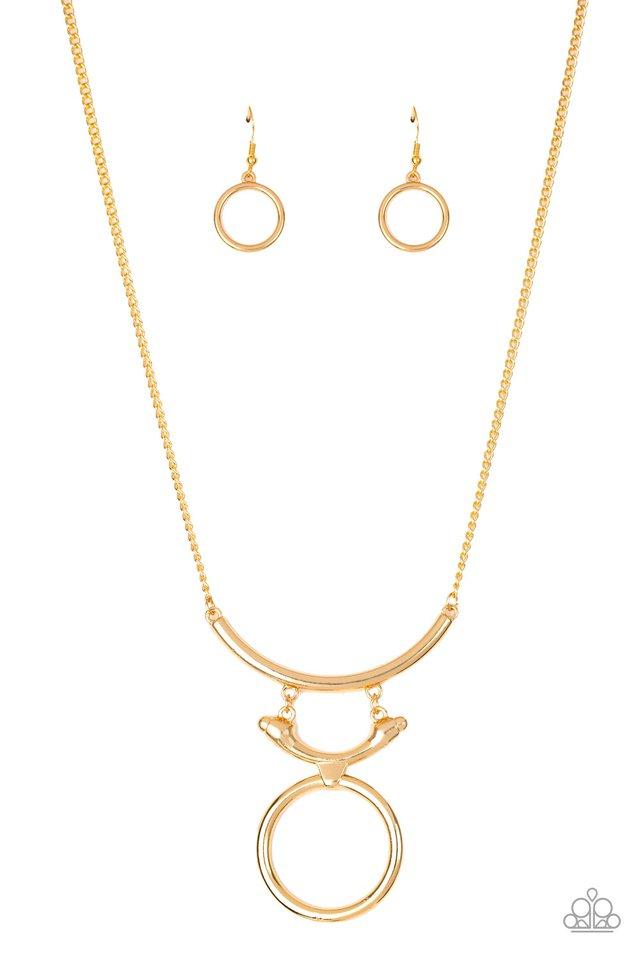 Walk Like An Egyptian - Gold - Paparazzi Necklace Image