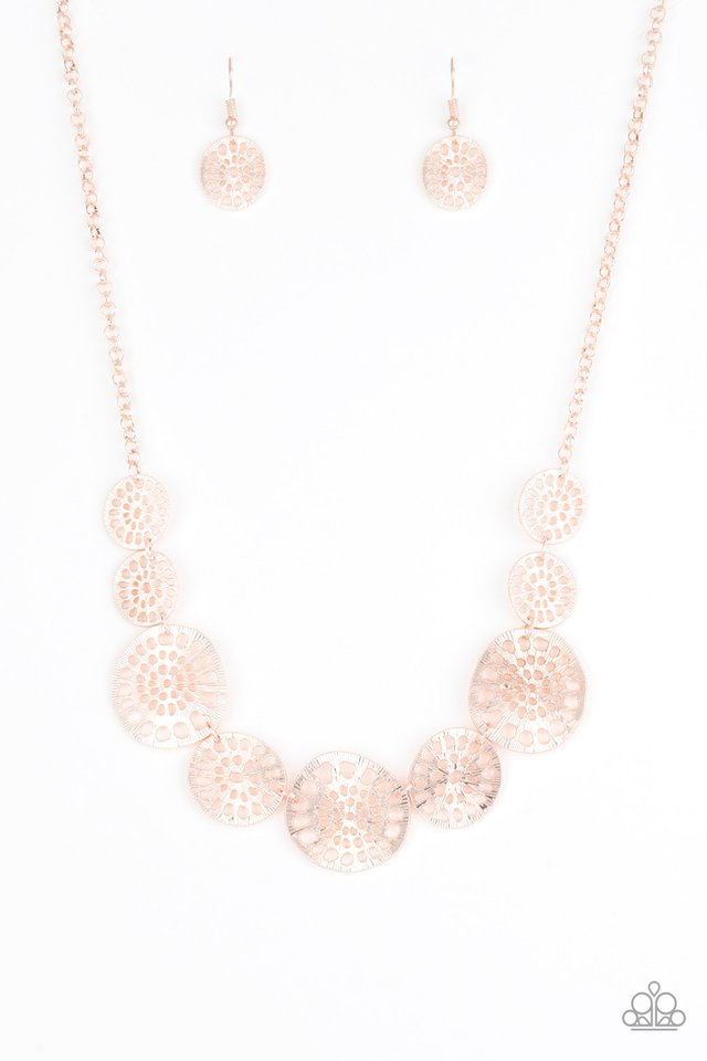Your Own Free WHEEL - Rose Gold - Paparazzi Necklace Image