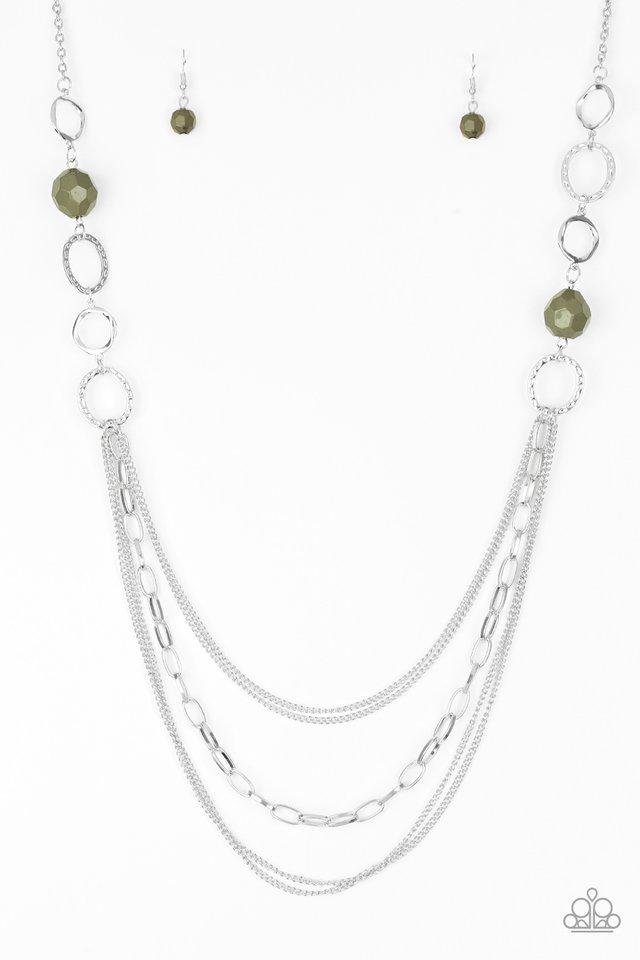 Margarita Masquerades - Green - Paparazzi Necklace Image