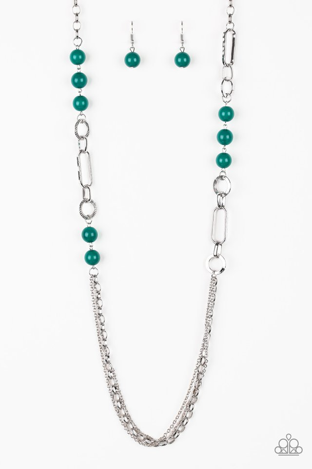 CACHE Me Out - Green - Paparazzi Necklace Image