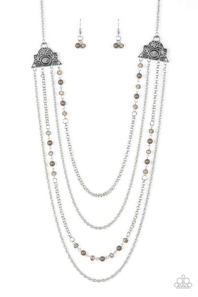 Pharaoh Finesse - Green - Paparazzi Necklace Image